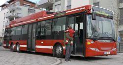 Scania-Ethanol-Hybridbus in Stockholm